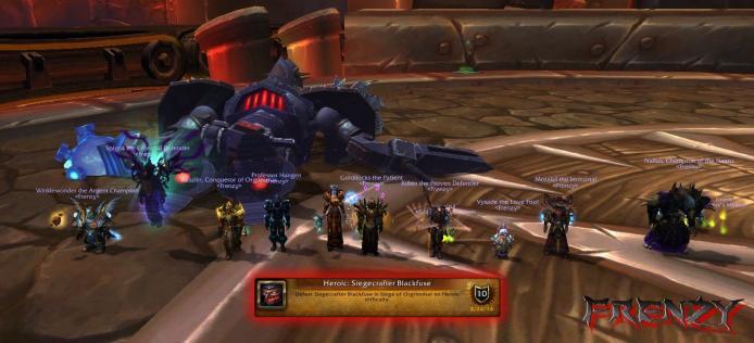 Heroic Siegecrafter Blackfuse kill by Frenzy on Doomhammer-EU