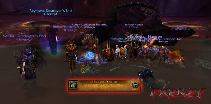 Heroic Warlord Zon'ozz kill by Frenzy on Doomhammer-EU