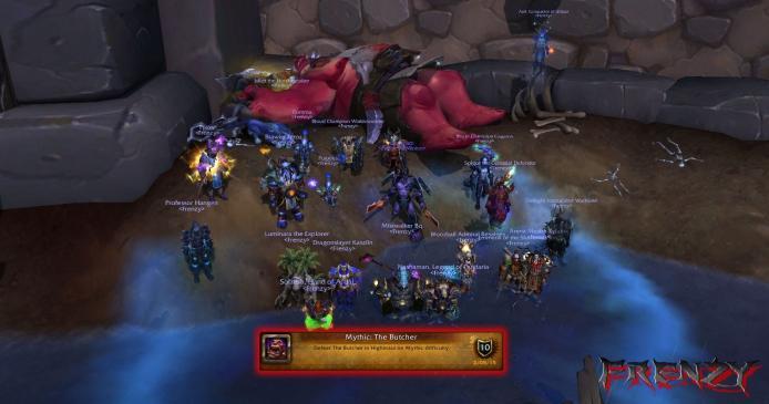 Mythic Butcher kill by Frenzy on Doomhammer-EU
