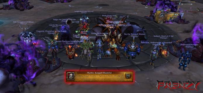 Mythic Kargath Bladefist kill by Frenzy on Doomhammer-EU