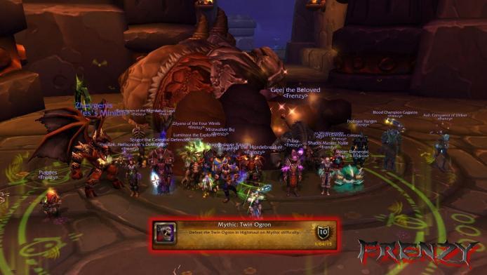 Mythic Twin Ogron kill by Frenzy on Doomhammer-EU