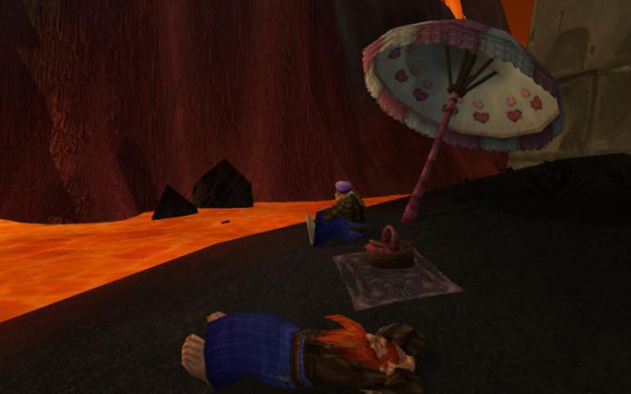 Vizima and RimmRob on a picnic in Firelands